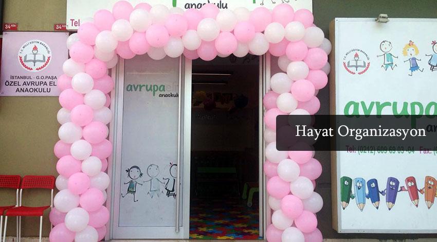 anaokulu açılışı balon süslemeleri