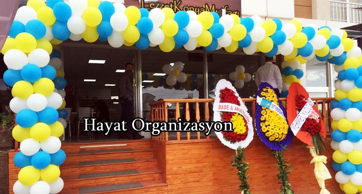 dükkan açılış balon süsleme organizasyon